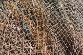 Old Fishing Nets. Abstarct Background Of Nets, Geometric Pattern. poster