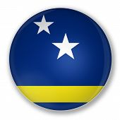 Badge With Flag Of Curaçao