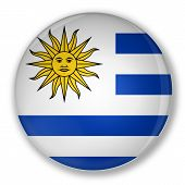 Badge With Flag Of Uruguay