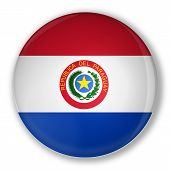 Badge With Flag Of Paraguay