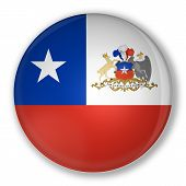 Badge With Flag Of Chile