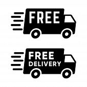 Delivery Truck Icon Isolated On White Background. Delivery Truck Icon In Trendy Design Style. Delive poster