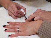 Fingernails close up painting