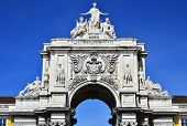 The Arch Of Augusta Rua In Lisbon, Portugal