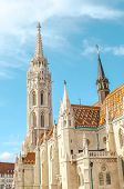 Vertical Photo Of The Matthias Church, Also Known As The Church Of The Assumption Of The Buda Castle poster