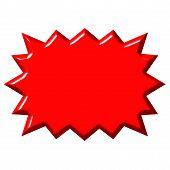 Explosão vermelho 3D