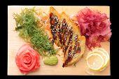 Sashimi Tamago On Rectangular Board