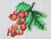 Bead Embroidery Of Red Currants