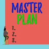 Handwriting Text Master Plan. Concept Meaning Dynamic Longterm Planning Document Comprehensive Plan  poster