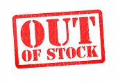 Out Of Stock Rubber Stamp