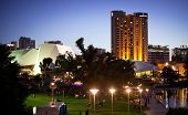 ADELAIDE - FEBRUARY 28: Adelaide Skyline during the Adelaide Symphony Orchestra  Symphony Under the