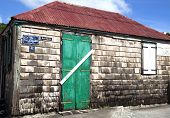 Old traditional house in Gustavia at St. Barths