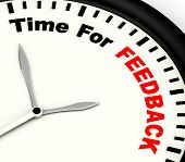 Time For Feedback Shows Opinion Evaluation And Surveys