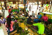 KO CHANG, THAILAND - NOV 28: Local people make krathong for Loy Krathong festival, Nov 28, 2012 on C