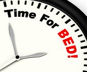 Time For Bed  Showing Insomnia Or Tiredness