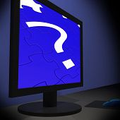 Question Mark On Monitor Shows Confusion