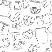 Male Underwear Doodle Pattern