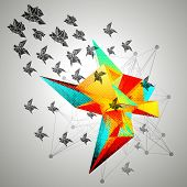 Triangular 3D Abstract Background vector