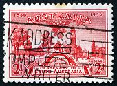 Postage Stamp Australia 1936 Proclamation Tree And View Of Adelaide