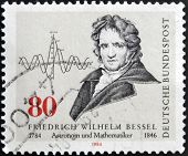 stamp printed in Germany shows Friedrich Wilheln Bessel