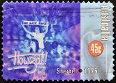 A stamp printed in Australia dedicated to Sherbet 1976