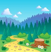 Forest theme image 2 - vector illustration.