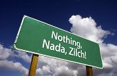 Nothing, Nada, Zilch Road Sign