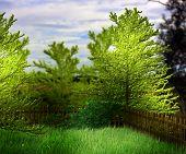 Green Garden Premade Background