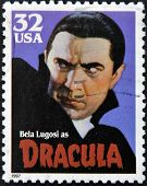 stamp printed in USA shows Bela Lugosi as Dracula