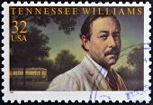 A stamp printed in USA shows Tennessee Williams