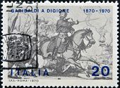 A stamp printed in Italy shows the Garibaldi at Battle of Dijon
