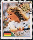 stamp printed in Paraguay shows Steffi Graf