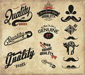 vintage retro Collection of Premium and High Quality labels 2