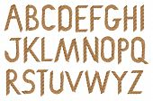Vector Illustration Of Rope-looking Font.