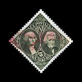 Usa - Circa 1994: Stamp Printed In Usa, Shows Washington And Jackson, Circa 1994.