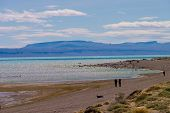 Lake Viedma In Argentina With People