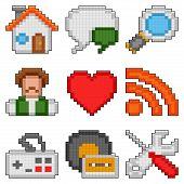 Pixel web icons.