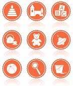 Baby Toys. Vector Icons.