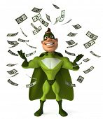 pic of animated cartoon  - Green superhero - JPG
