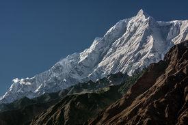 stock photo of karakoram  - Rakaposhi 7788m - JPG