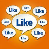 Like Chat Bubble Conversation On Orange
