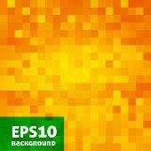 Vector orange print