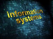 Data concept: Information Systems on digital background