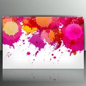 Banner with splash on abstract background