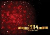 stock photo of yule  - Happy New Year 2014 celebration background with stylish text and can be use as flyer - JPG