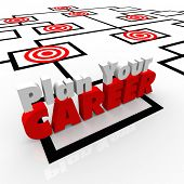 Plan Your Career on an organization chart to illustrate the importance of envisioning your goal or m