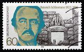 Postage Stamp Germany 1990 Heinrich Schliemann, Archaeologist
