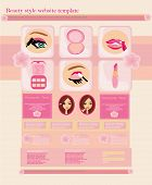 Beauty Style Website Template - Shop For Makeup Cosmetics