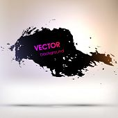 Abstract Black Grunge Background for Modern Design, Ink Splatter Texture Vector