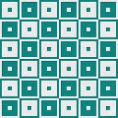 Teal Tapestry Square Textured Fabric Background